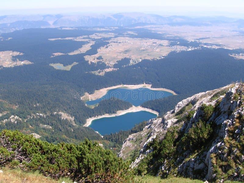 Montañas de Crno Jezero (lago negro) Durmitor fotos de archivo libres de regalías