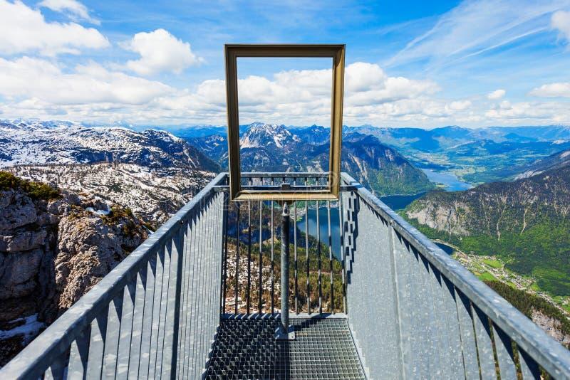 Montañas de Dachstein en Austria imagenes de archivo