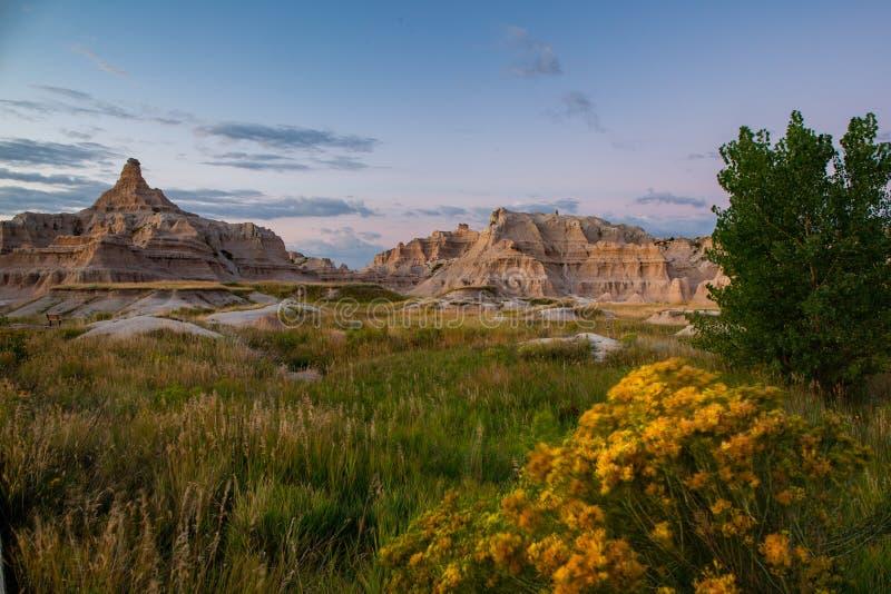 Montañas de Dakota del Sur de los Badlands foto de archivo