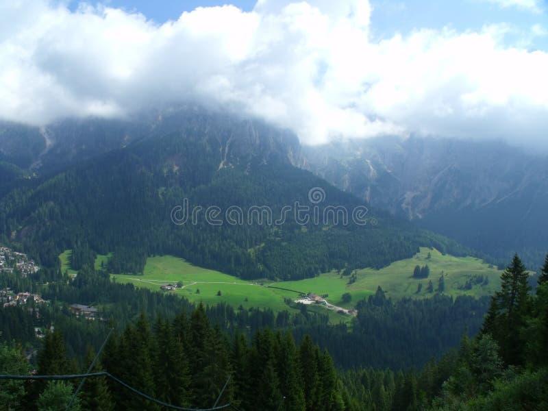 Montañas de Dolomity fotos de archivo
