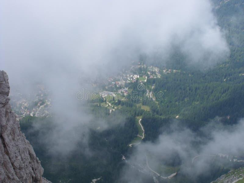 Montañas de Dolomity imagenes de archivo
