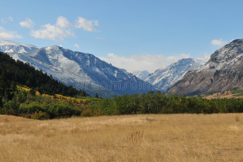 Montañas de Eartooth en caída imagen de archivo libre de regalías