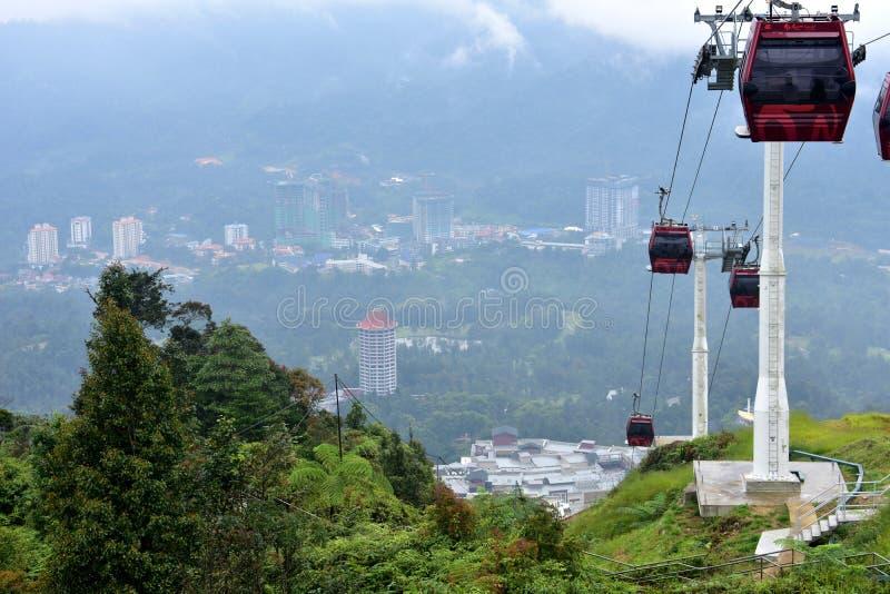 Montañas de Genting, Malasia - 2 de noviembre de 2017: GEN de Awana Skyway fotografía de archivo