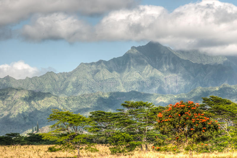 Montañas de Kauai, Hawaii imagen de archivo libre de regalías