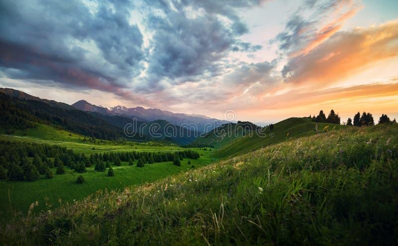 Montañas de Kazajistán foto de archivo