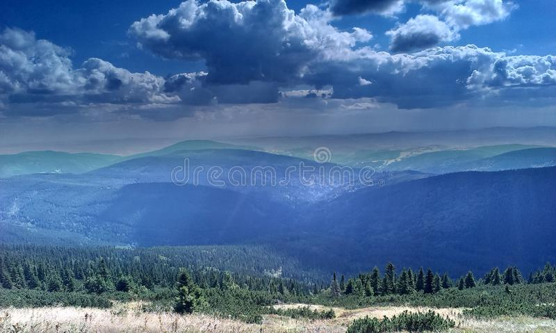 Montañas de Krkonose fotografía de archivo libre de regalías