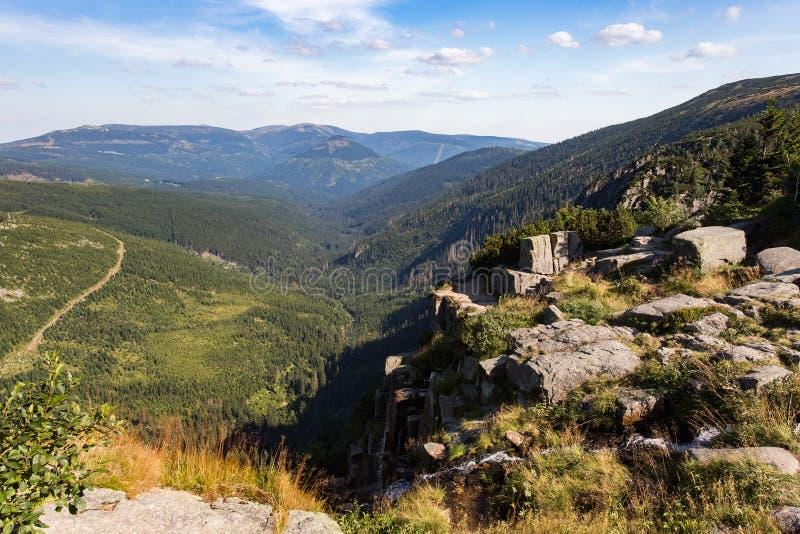 Montañas de Krkonose Naturaleza checa fotografía de archivo