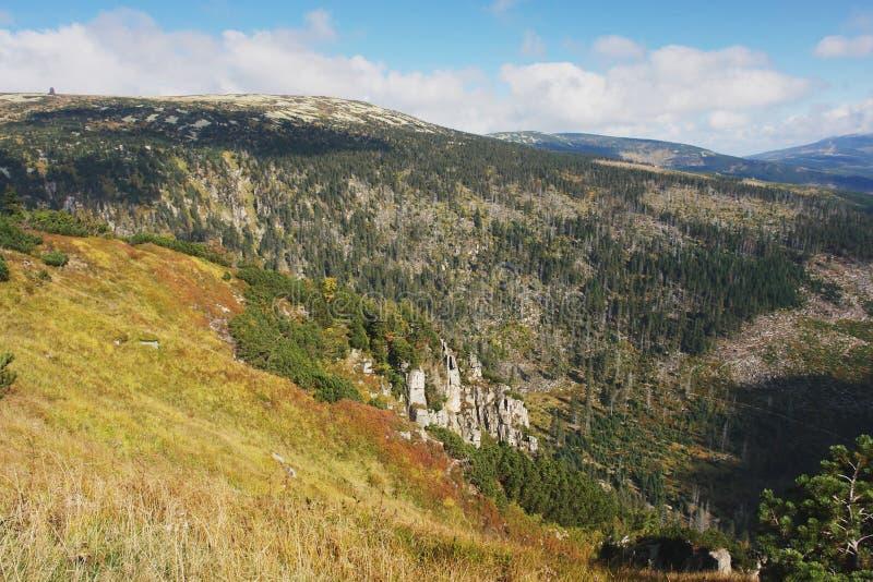 Montañas de Krkonose, República Checa foto de archivo