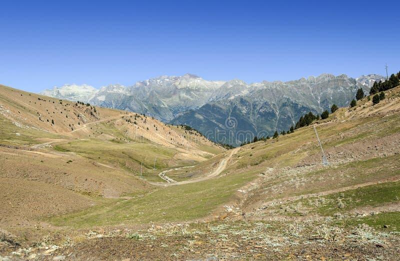 Montañas de la altura de Cerler fotografía de archivo