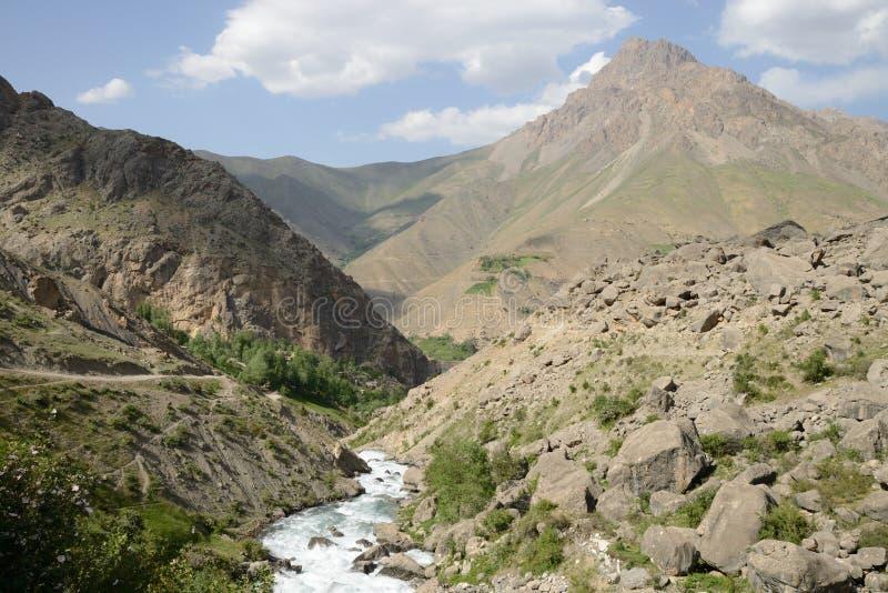 Montañas de la fan foto de archivo libre de regalías