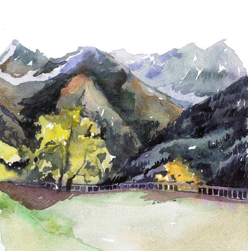 Montañas de las montan@as stock de ilustración