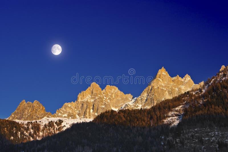 Montañas de los Grands de Les imágenes de archivo libres de regalías