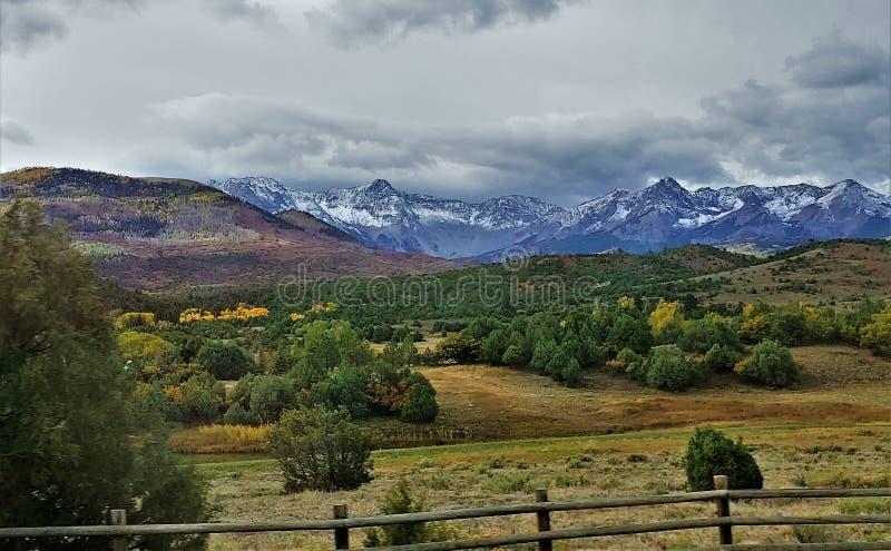 Montañas de San Juan en Colorado fotografía de archivo libre de regalías