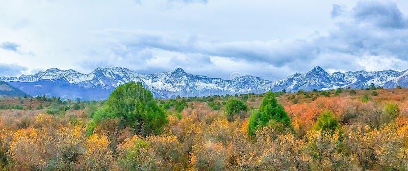 Montañas de San Juan en Colorado imagenes de archivo