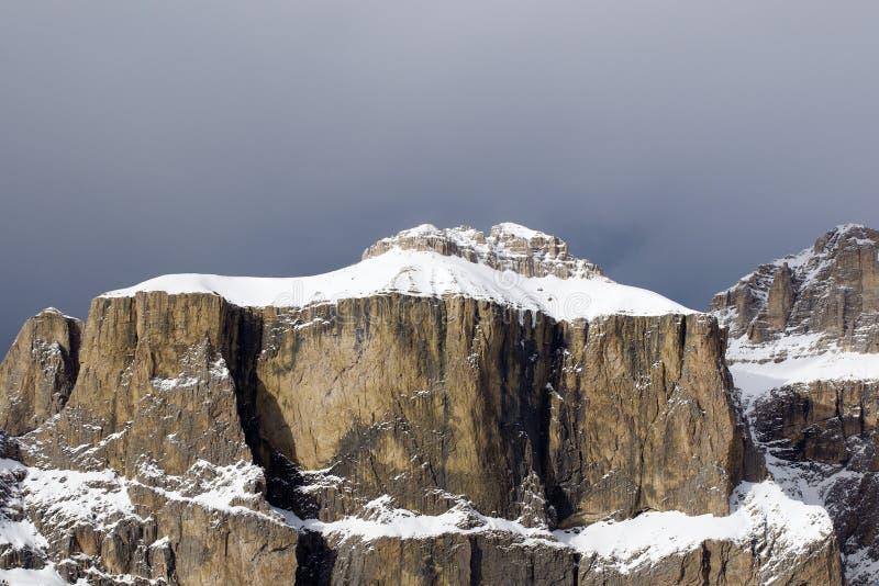 Montañas de Sella en Dolomiti italiano fotografía de archivo libre de regalías