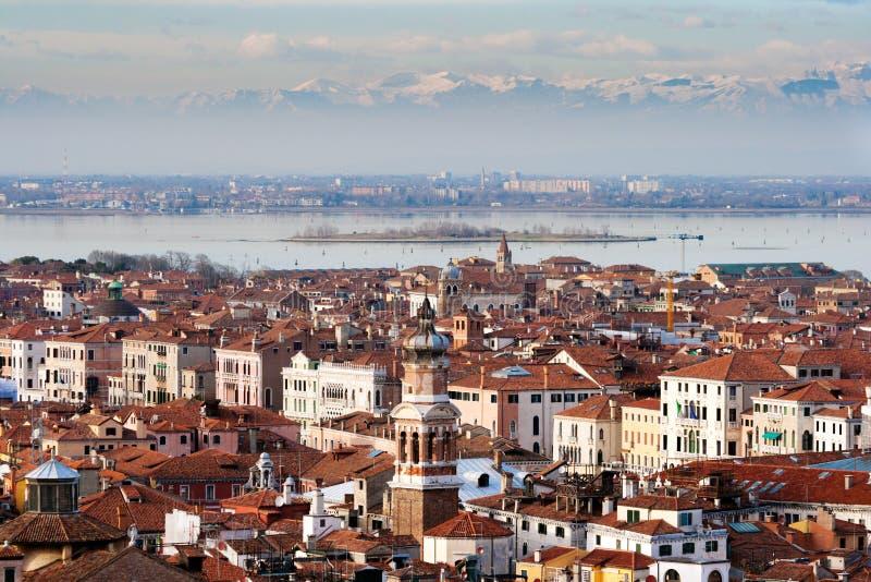 Montañas de Venecia Italia fotografía de archivo libre de regalías
