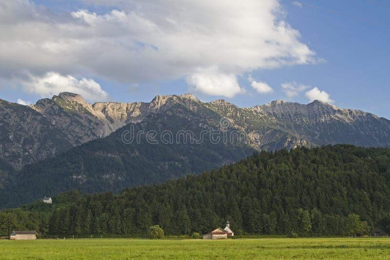 Montañas del éster en Baviera fotografía de archivo