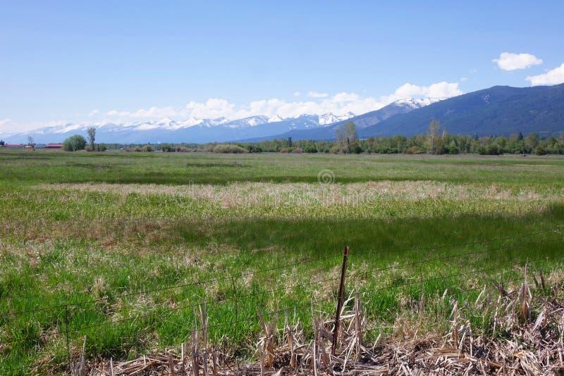 Montañas del Bitterroot cerca de Hamilton, Montana imagenes de archivo