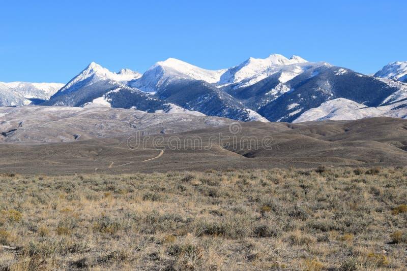 Montañas del Bitterroot fotografía de archivo libre de regalías