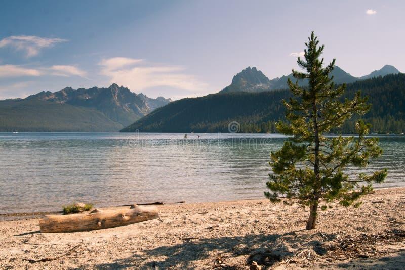 Montañas del lago y del diente de sierra redfish en Idaho imágenes de archivo libres de regalías