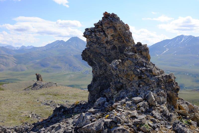 Montañas del parque nacional de Ivvavik imagen de archivo libre de regalías