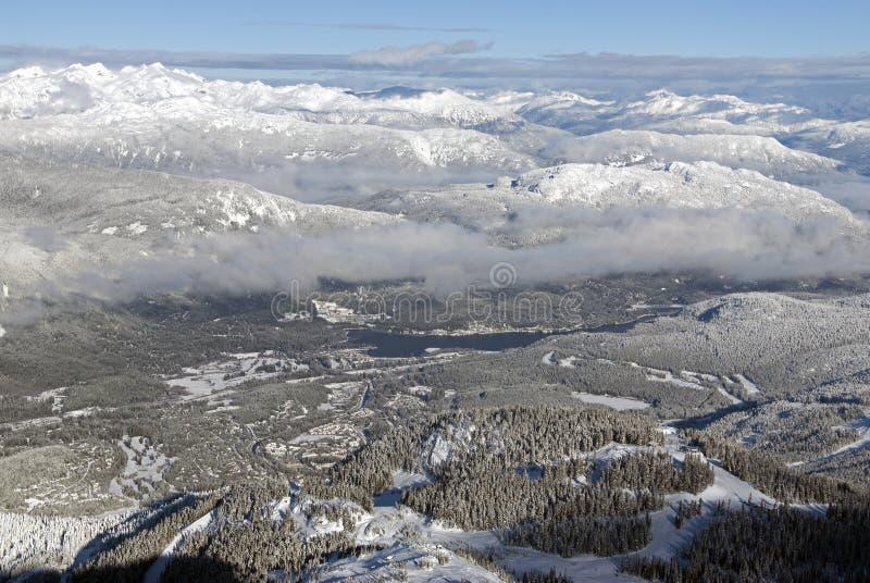 Montañas del pueblo y de la costa de la marmota fotografía de archivo libre de regalías