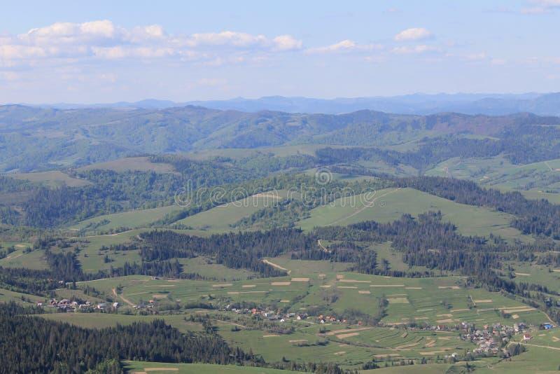¡Montañas del ucraniano de la belleza!! fotografía de archivo libre de regalías