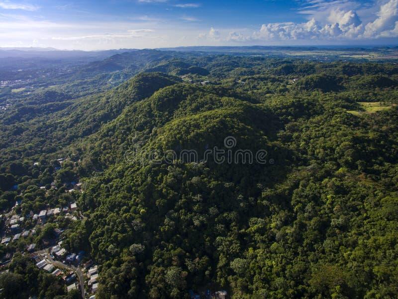 Montañas en alemán Puerto Rico de San fotografía de archivo