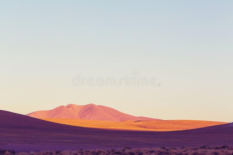 Montañas en Bolivia fotografía de archivo