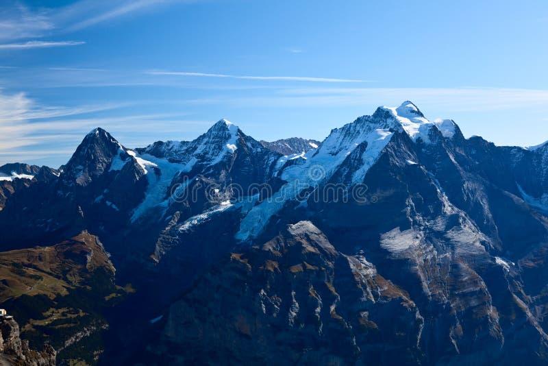 Montañas en Interlaken fotos de archivo libres de regalías