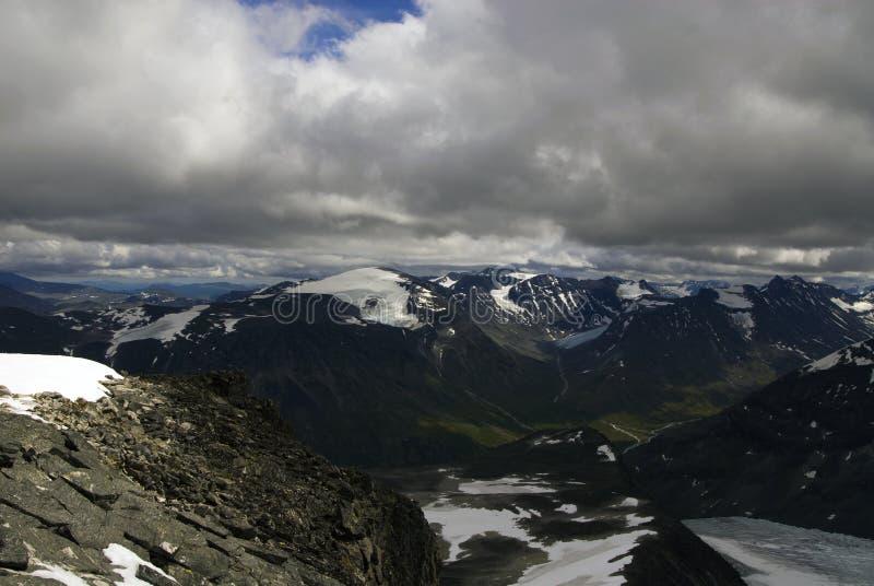 Montañas en Jotunheimen foto de archivo libre de regalías