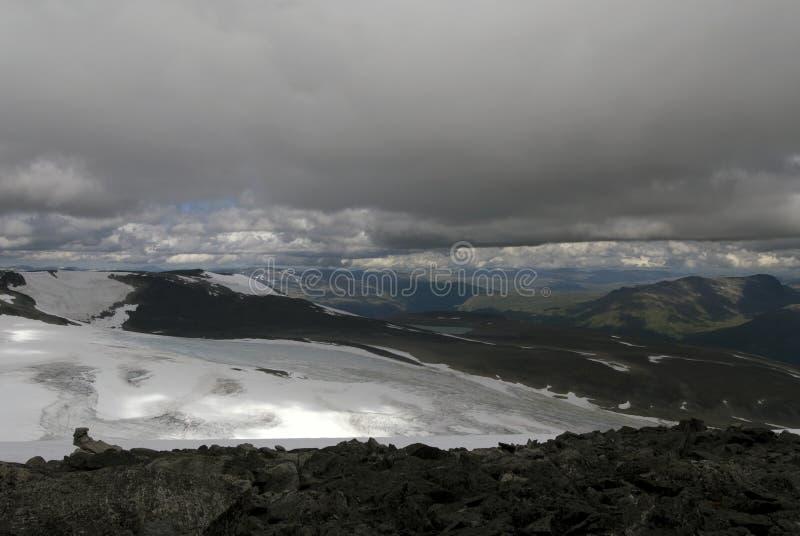 Montañas en Jotunheimen fotos de archivo