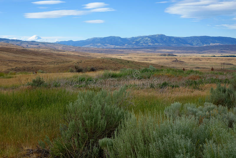 Montañas en Midvale, Idaho imagen de archivo