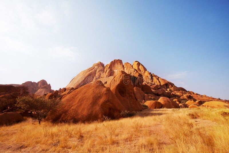 Montañas en Namibia foto de archivo
