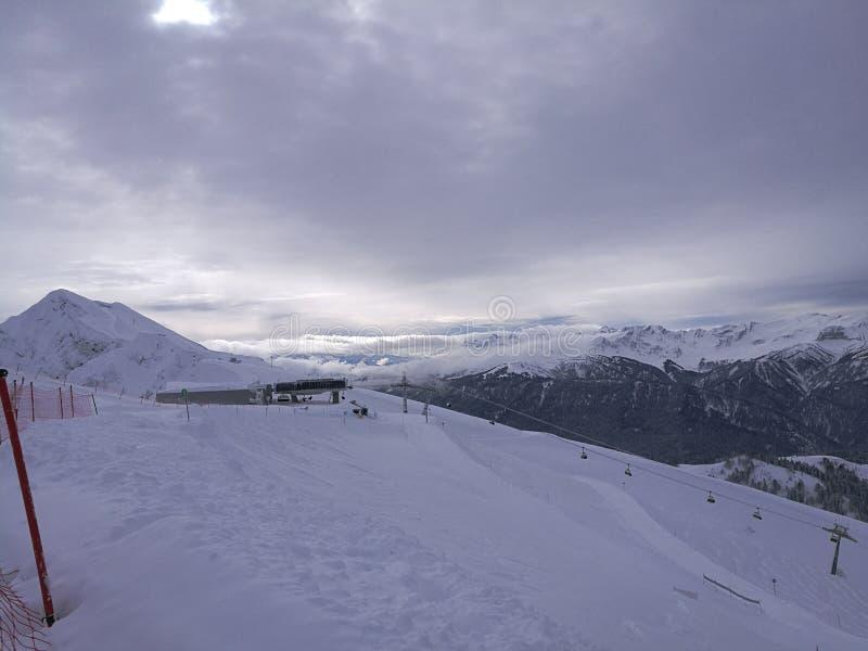 Montañas en Sochi foto de archivo