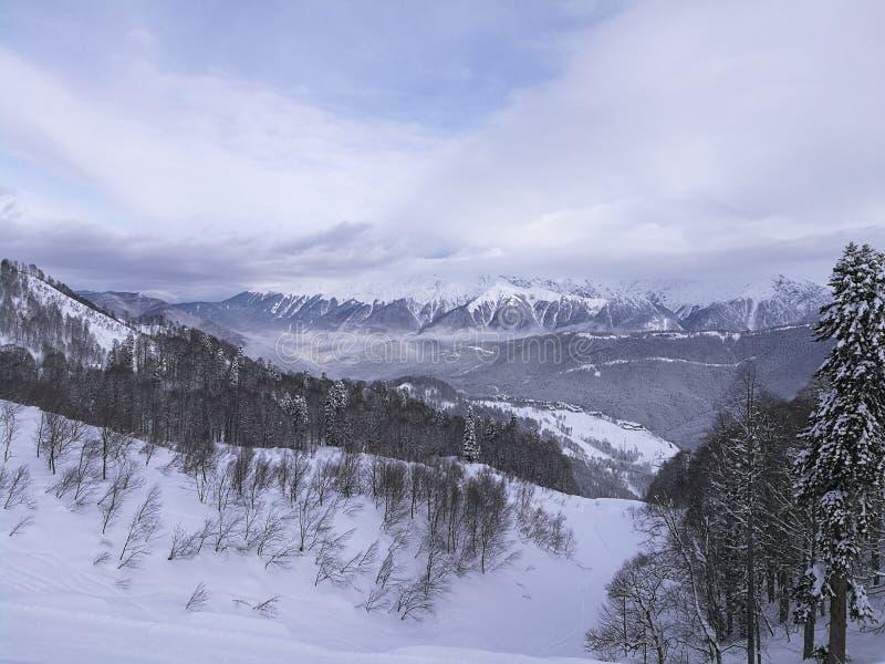 Montañas en Sochi foto de archivo libre de regalías