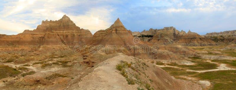 Montañas erosionadas de los Badlands, Dakota del Sur imagen de archivo