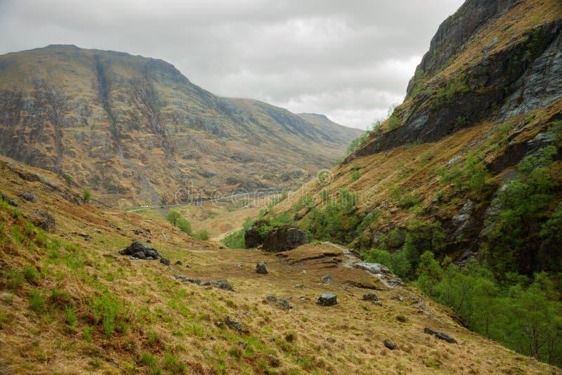 Montañas escocesas. imagenes de archivo
