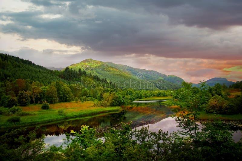 Montañas escocesas fotos de archivo