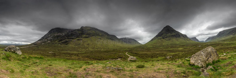 Montañas escocesas Escocia, Reino Unido fotografía de archivo