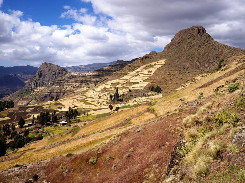 Montañas etíopes imagen de archivo libre de regalías