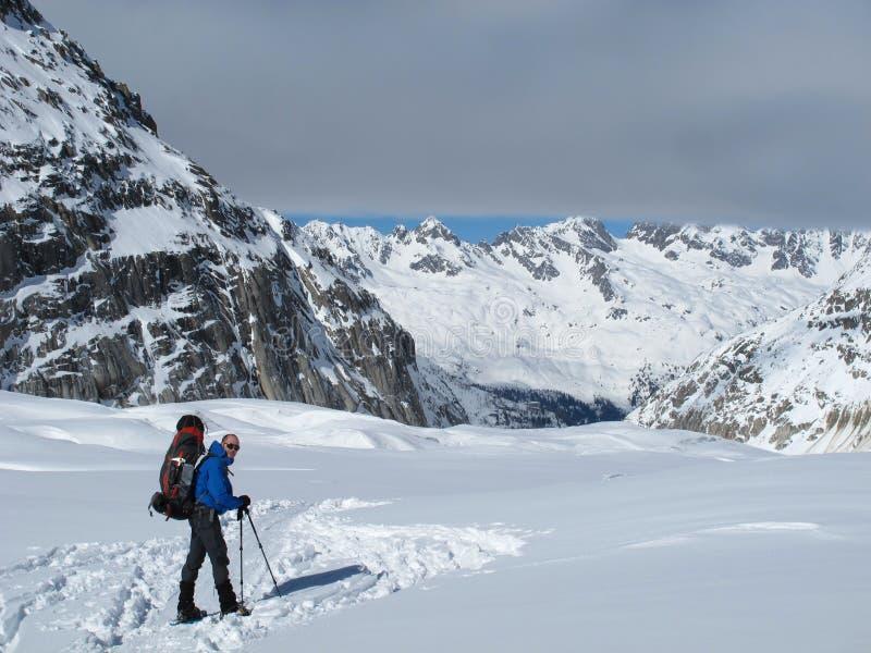 Montañas francesas en invierno, Chamonix foto de archivo libre de regalías
