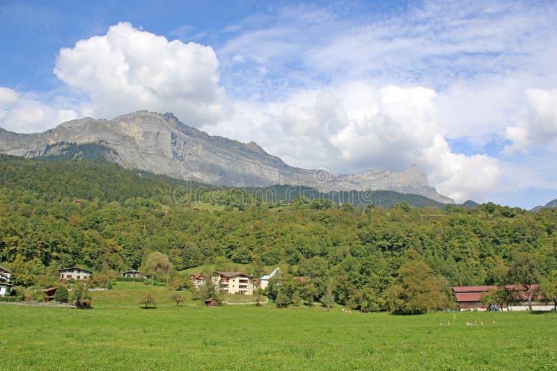 Montañas francesas en Passy foto de archivo libre de regalías