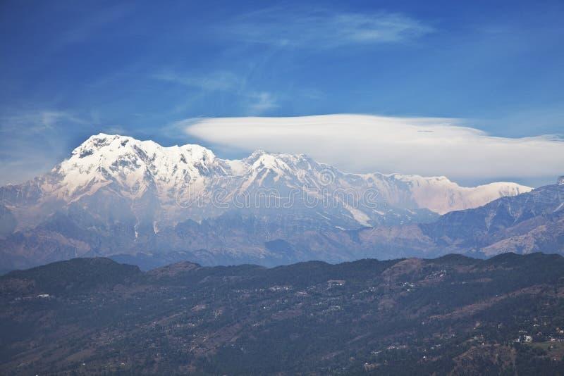 Montañas Himalayan de Dhaulagiri-Annapurna-Manaslu fotografía de archivo