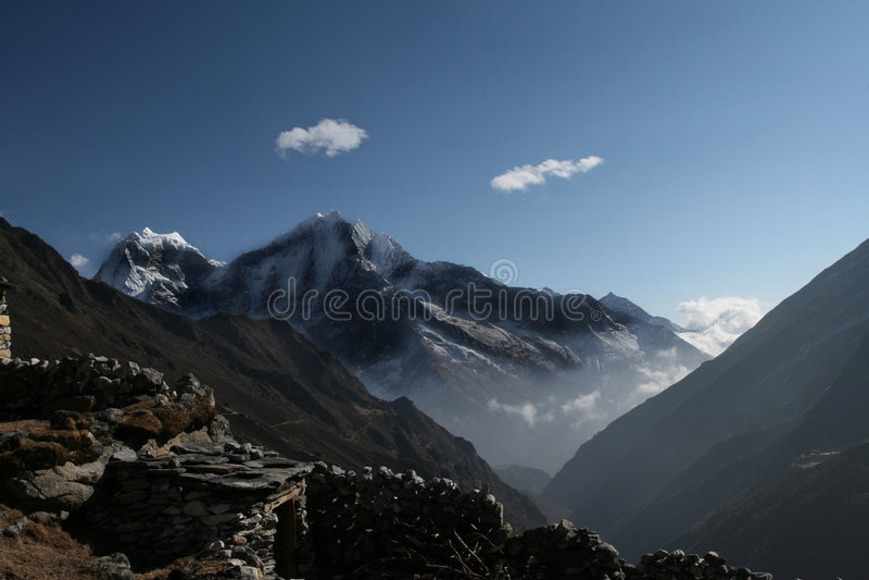 Montañas Himalayan escénicas fotografía de archivo libre de regalías