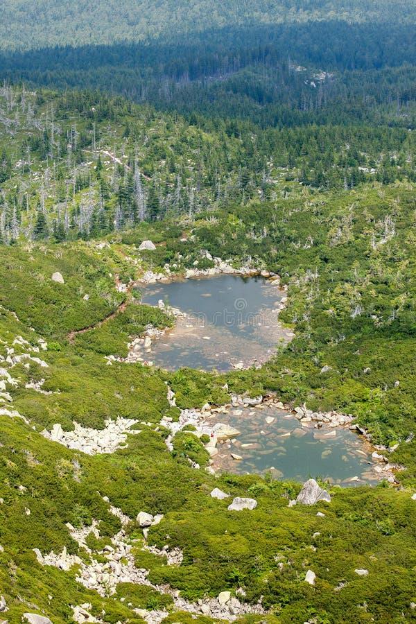 Montañas Karkonosze en Polonia imagenes de archivo
