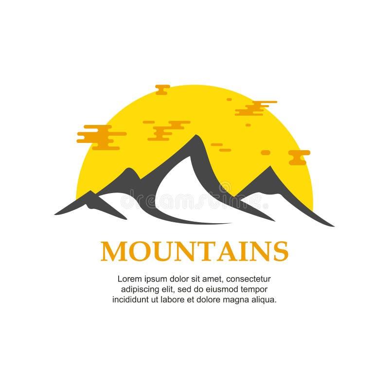 Montañas Logo Template ilustración del vector