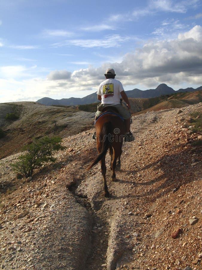 Montañas Margarita Island Venezuela de Macanao de la equitación foto de archivo libre de regalías