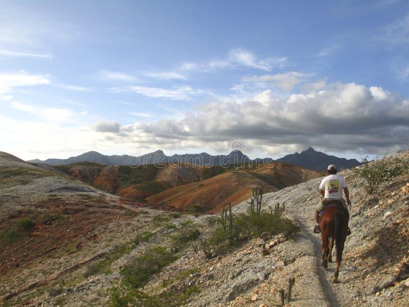 Montañas Margarita Island Venezuela de Macanao de la equitación fotos de archivo libres de regalías