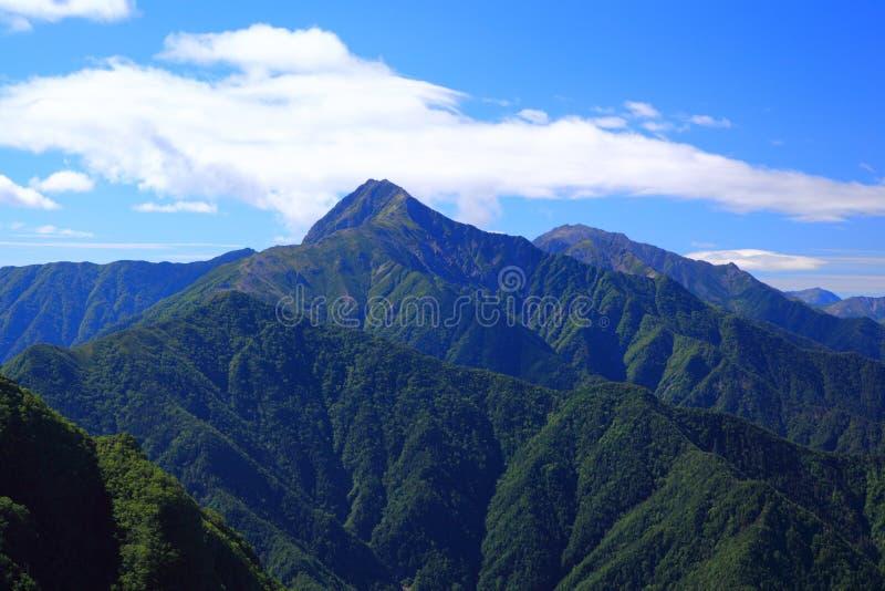 Montañas Mt. Kitadake de Japón fotografía de archivo libre de regalías